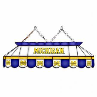 "Michigan Wolverines MVP 40"" Tiffany Stained Glass Pool Table Lamp 