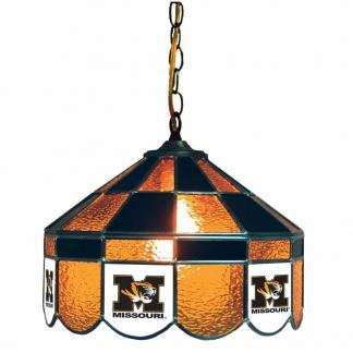 Mizzou Tigers Stained Glass Swag Hanging Lamp   moneymachines.com