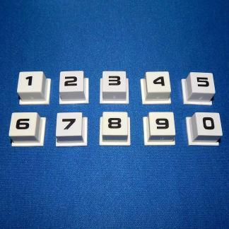 New Rowe/AMI Jukebox Keyboard Selector Number Button Set - 30743126 | moneymachines.com