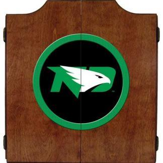 North Dakota Fighting Hawks College Logo Dart Cabinet | moneymachines.com