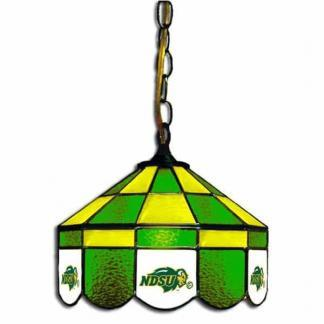 North Dakota State Bisons Stained Glass Swag Hanging Lamp | moneymachines.com