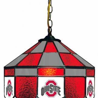 Ohio State Buckeyes Stained Glass Swag Hanging Lamp | moneymachines.com