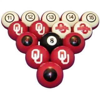 Oklahoma Sooners Billiard Ball Set | moneymachines.com