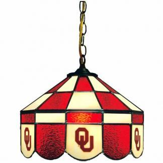 Oklahoma Sooners Stained Glass Swag Hanging Lamp | moneymachines.com