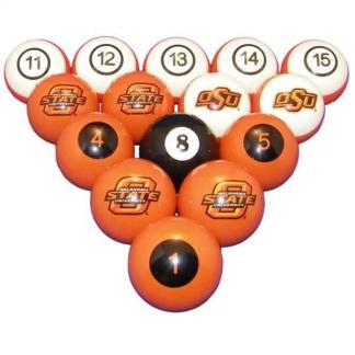 Oklahoma State Cowboys Billiard Ball Set | moneymachines.com