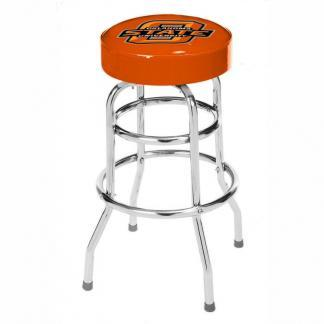 Oklahoma State Cowboys College Logo Double Rung Bar Stool | moneymachines.com