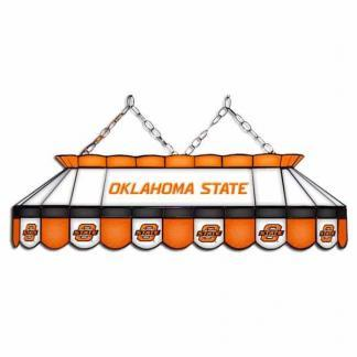 "Oklahoma State Cowboys MVP 40"" Tiffany Stained Glass Pool Table Lamp 