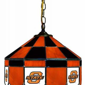 Oklahoma State Cowboys Stained Glass Swag Hanging Lamp | moneymachines.com