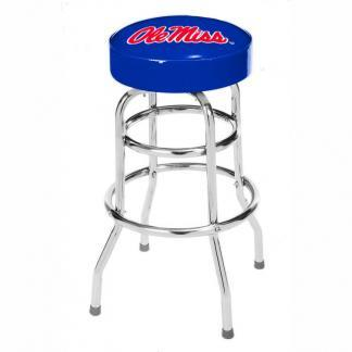 Ole Miss Rebels College Logo Double Rung Bar Stool | moneymachines.com