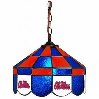 Ole Miss Rebels Stained Glass Swag Hanging Lamp | moneymachines.com