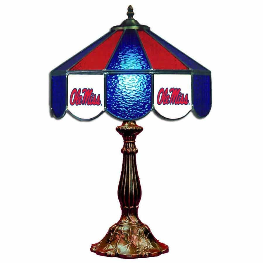 Ole Miss Rebels Stained Glass Table Lamp | moneymachines.com