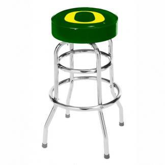 Oregon Ducks College Logo Double Rung Bar Stool | moneymachines.com