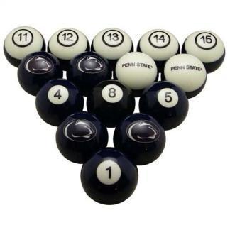 Penn State Nittany Lions Billiard Ball Set | moneymachines.com