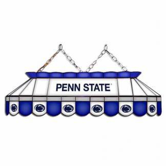 """Penn State Nittany Lions MVP 40"""" Tiffany Stained Glass Pool Table Lamp 