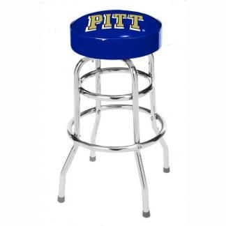 Pittsburgh Panthers College Logo Double Rung Bar Stool | moneymachines.com
