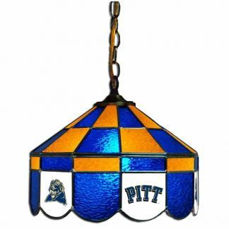 Pittsburgh Panthers Stained Glass Swag Hanging Lamp | moneymachines.com