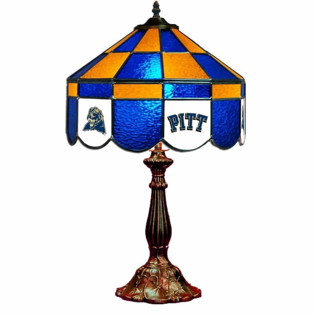 Pittsburgh Panthers Stained Glass Table Lamp | moneymachines.com