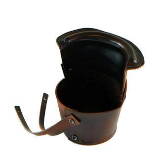 Set of 6 Brown Leather Bucket Pockets | moneymachines.com
