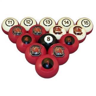 South Carolina Gamecocks Billiard Ball Set | moneymachines.com