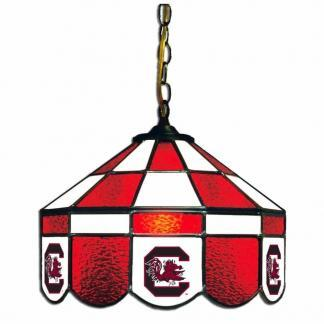South Carolina Gamecocks Stained Glass Swag Hanging Lamp | moneymachines.com