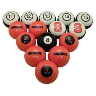 Syracuse Orange Billiard Ball Set   moneymachines.com