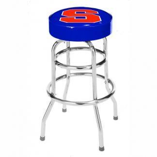 Syracuse Orange College Logo Double Rung Bar Stool   moneymachines.com