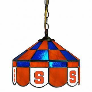 Syracuse Orange Stained Glass Swag Hanging Lamp   moneymachines.com