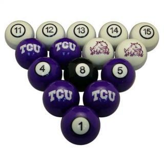 TCU Horned Frogs Billiard Ball Set | moneymachines.com