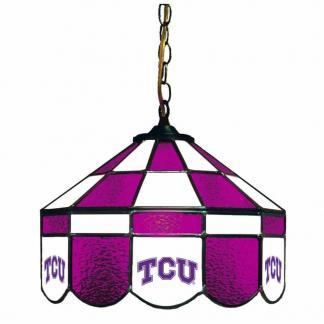 TCU Horned Frogs Stained Glass Swag Hanging Lamp | moneymachines.com