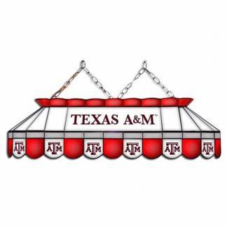"Texas A&M Aggies MVP 40"" Tiffany Stained Glass Pool Table Lamp 