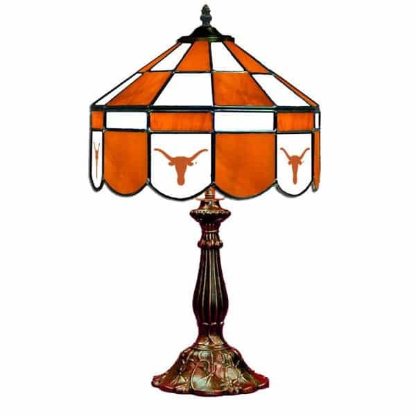 Texas Longhorns Stained Glass Table Lamp | moneymachines.com