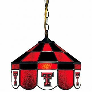 Texas Tech Red Raiders Stained Glass Swag Hanging Lamp | moneymachines.com