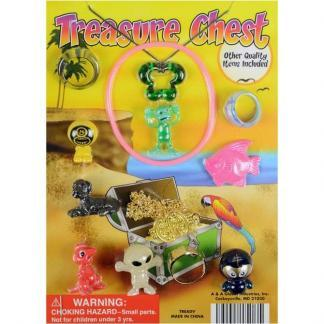 Treasure Chest Mixed Toys in 1.1 Inch Capsules Merchandise Display Front | moneymachines.com