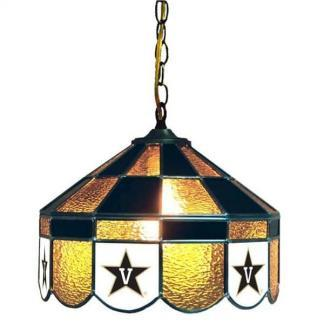 Vanderbilt Commodores Stained Glass Swag Hanging Lamp | moneymachines.com