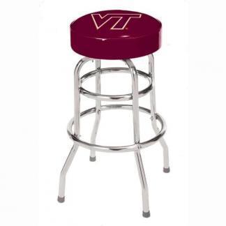 Virginia Tech Hokies College Logo Double Rung Bar Stool | moneymachines.com