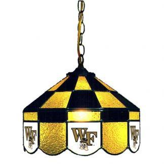 Wake Forest Demon Deacons Stained Glass Swag Hanging Lamp | moneymachines.com