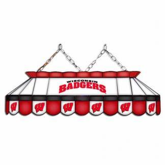 "Wisconsin Badgers MVP 40"" Tiffany Stained Glass Pool Table Lamp 