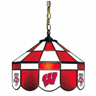 Wisconsin Badgers Stained Glass Swag Hanging Lamp | moneymachines.com