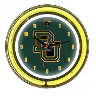 Baylor Bears Neon Wall Clock | Moneymachines.com