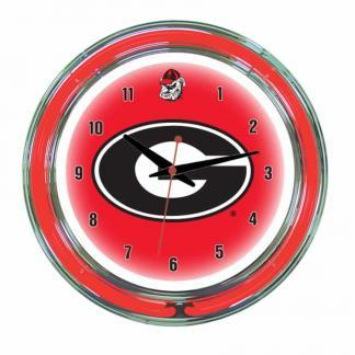 Georgia Bulldogs Neon Wall Clock | Moneymachines.com