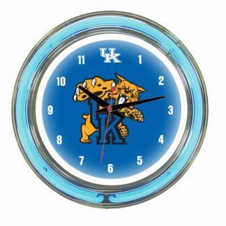 Kentucky Wildcats Neon Wall Clock | Moneymachines.com