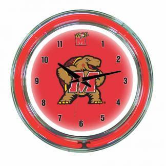 Maryland Terrapins Neon Wall Clock | Moneymachines.com