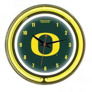 Oregon Ducks Neon Wall Clock | Moneymachines.com
