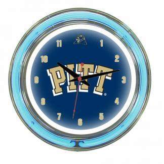 Pittsburgh Panthers Neon Wall Clock | Moneymachines.com