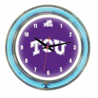 TCU Horned Frogs Neon Wall Clock | Moneymachines.com