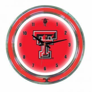 Texas Tech Red Raiders Neon Wall Clock | Moneymachines.com
