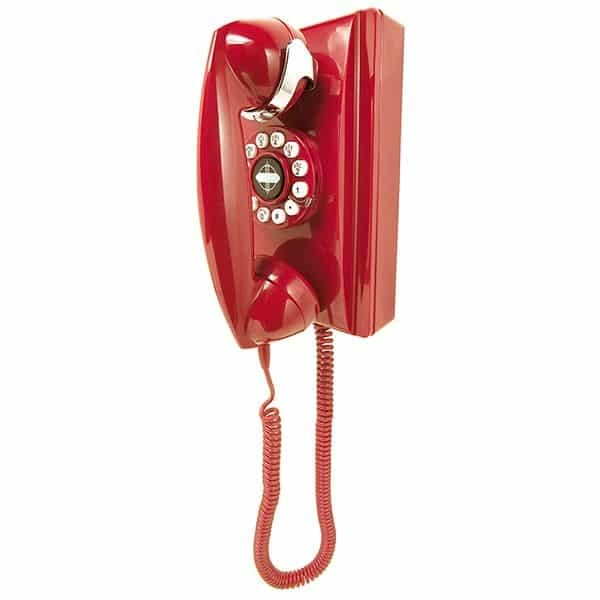 Crosley 302 Wall Phone Red | moneymachines.com