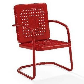 Crosley Battes Outdoor Chair - Red | moneymachines.com