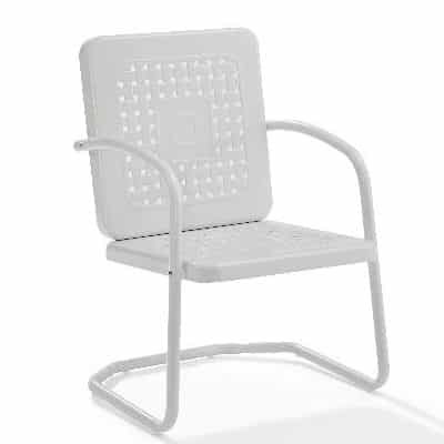 Crosley Battes Outdoor Chair - White | moneymachines.com