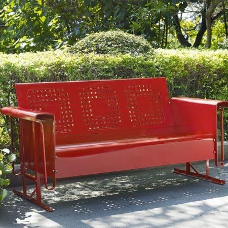 Crosley Battes Outdoor Sofa Glider - Red | moneymachines.com